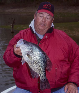 In South Carolina, you don't necessarily have to hit big lakes to find big-time crappie fishing. (April 2008)