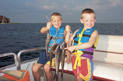 Here's a look at some of the best places in the state to take the kids on a vacation that includes some fishing with the family. (June 2007)
