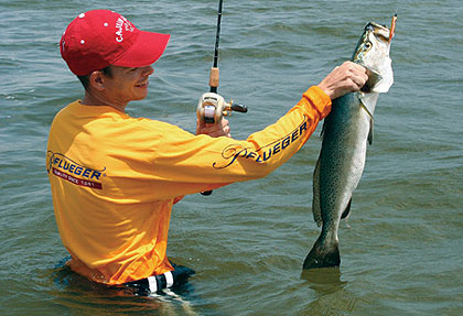Check out these great locations along the Texas Gulf Coast for taking both speckled trout and redfish this month. (May 2009)