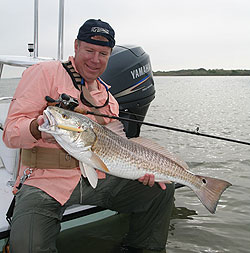Redfish feeding on the flats of the Gulf are prime targets this month, and these spots are prime locations for getting in on the angling action. (May 2010)