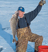 Up in the northwoods, the gang at the Snowshoe Bar doesn't understand why anyone would ice-fish for anything but walleyes. If you think like they do, drill a few holes on these waters this season. (Janaury 2006)