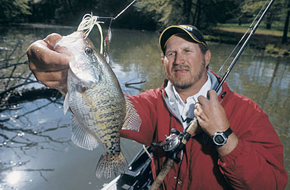 Hotspots for our spring crappies for Best crappie fishing times