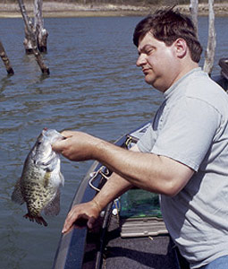 When the sun moves higher in the sky and the ice goes out, it means it's time for the best crappie fishing of the year. These waters consistently produce papermouths every spring. (March 2007)