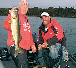 Green Bay walleye fishing benefits greatly these days from intensive walleye stocking and habitat work by both the Wisconsin Department of Natural Resources and Walleyes For Tomorrow. (May 2009)