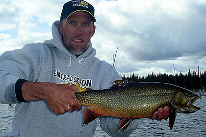 World record brook trout images for Idaho ice fishing report