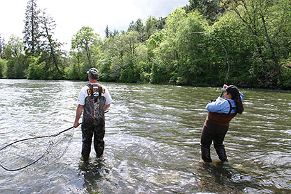 Going rogue for springers for Rogue river oregon fishing