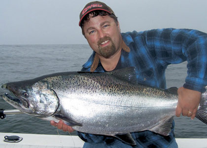Put yourself in the right place at the right time to catch big blackmouth in the Strait of Juan de Fuca. (July 2007)