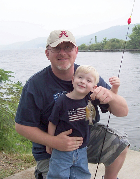 The waters of Guntersville Lake offer plenty of room for introducing youngsters to angling. Photo courtesy of Anthony Campbell.