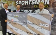(L to R), Todd Hansen, COO of Sportsman; Pat Murray, President of CCA; Jeff Paro, CEO of IMO.