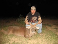 Mitchell Ritchie credits his wife's tenacity with helping him find this 12-pointer he shot in West Carroll Parish. Photo courtesy of Mitchell Ritchie.