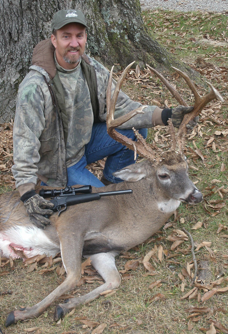 Cedar Hills Kevin Lee Used A Thompson Center Contender Handgun To Kill This Gnarly Racked St Louis County Buck The Basic 8 Point Rack Actually Supports