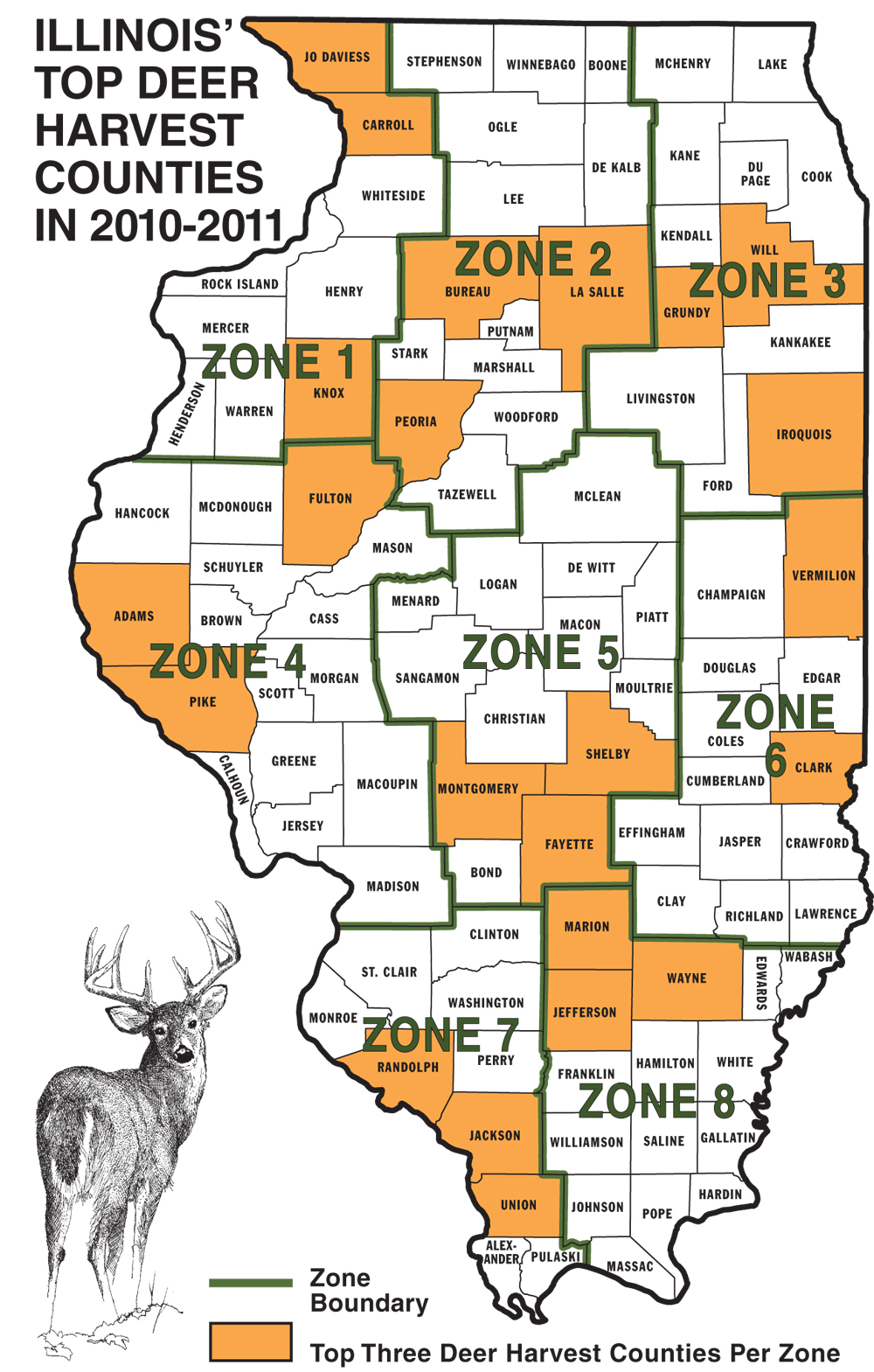2011 illinois deer hunting forecast game fish for Illinois game and fish