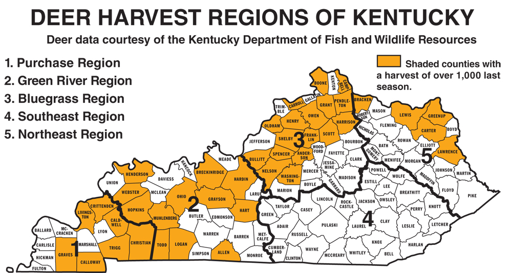 Kentucky public hunting land map map for Kentucky fish and game