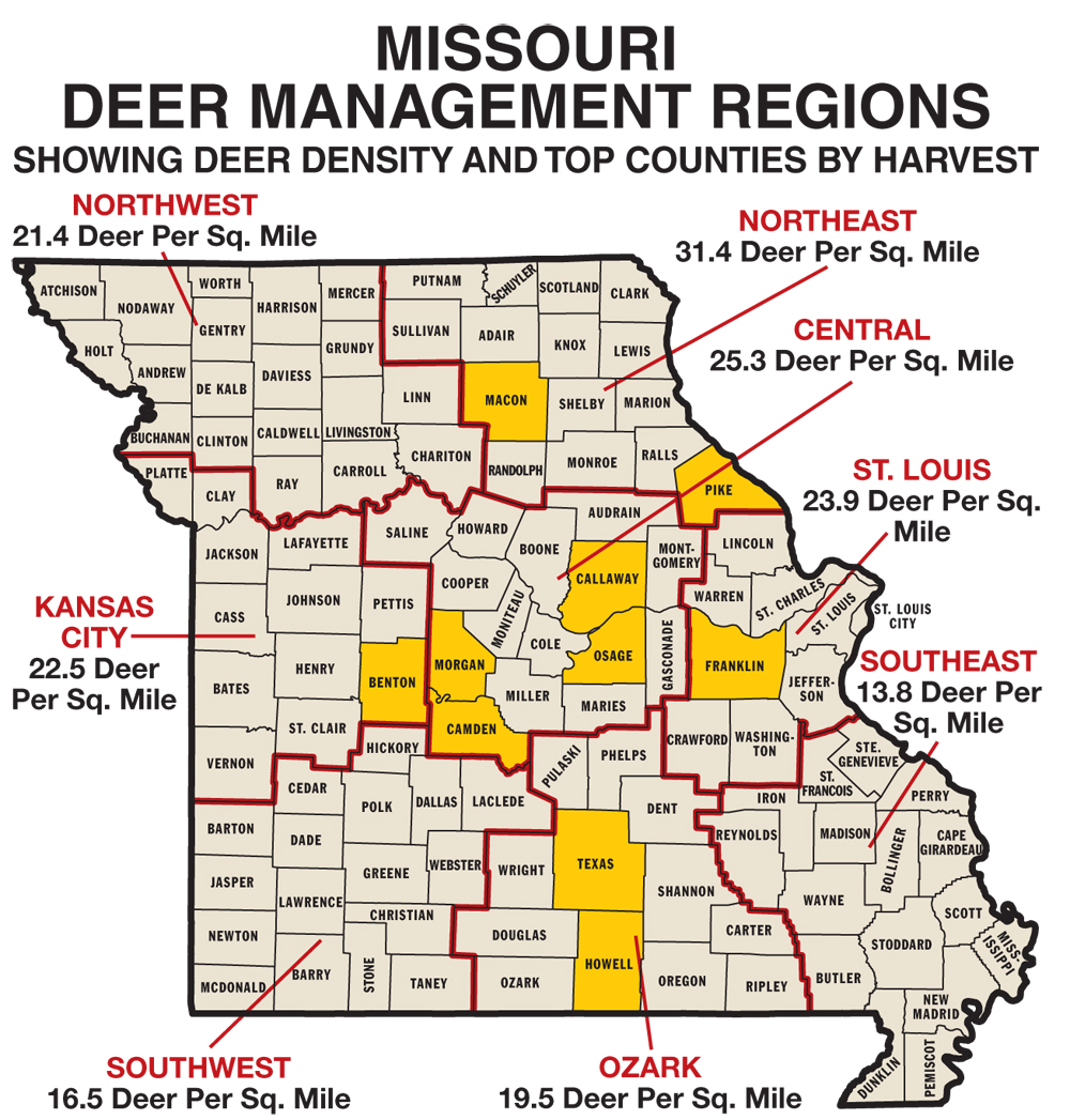 Deer hunters in the Show Me State are blessed with an abundance of whitetails and a whole lot of