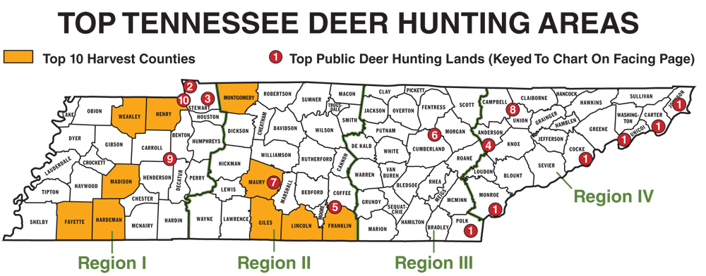 2011 Tennessee Deer Forecast...Part 1: Our Top Hunting Areas
