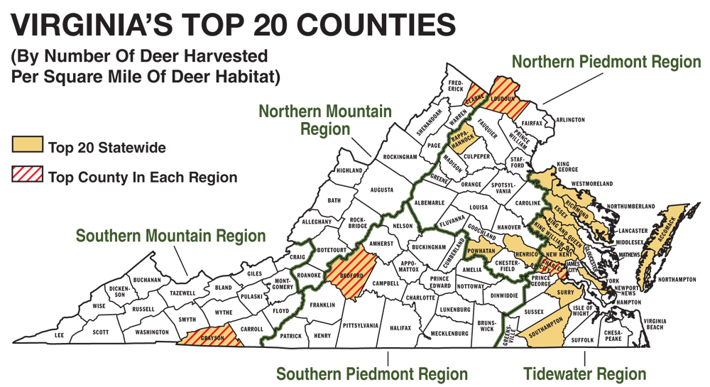 2011 virginia deer hunting forecast game fish for Virginia game and fish