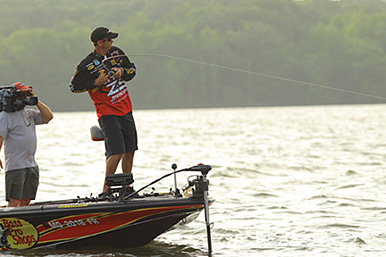 Bass change location and attitude in a heartbeat at the end of summer. They respond to shorter