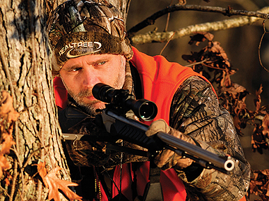 If you're a bowhunter who hunts with a smoke pole, you need to back away from your funnel-stand, trail-stand or field-stand setups by another 75 or 100 yards. Get deeper into the woods and higher in the trees. Photo courtesy of Thomas Allen.