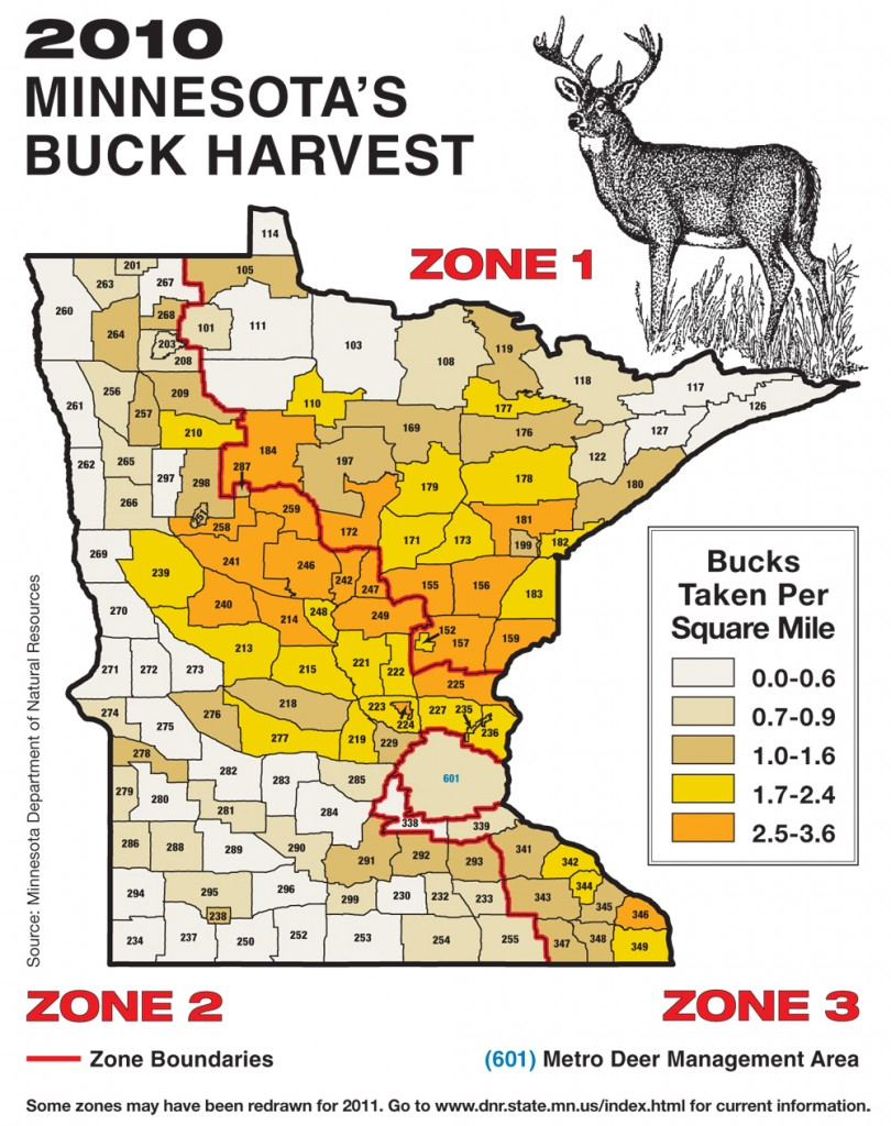 Minnesota 39 s 2011 deer forecast game fish for Minnesota game and fish