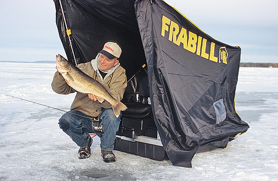 When you're fishing through the ice, utilizing two rods can be more than twice as nice and can help you catch far more fish.