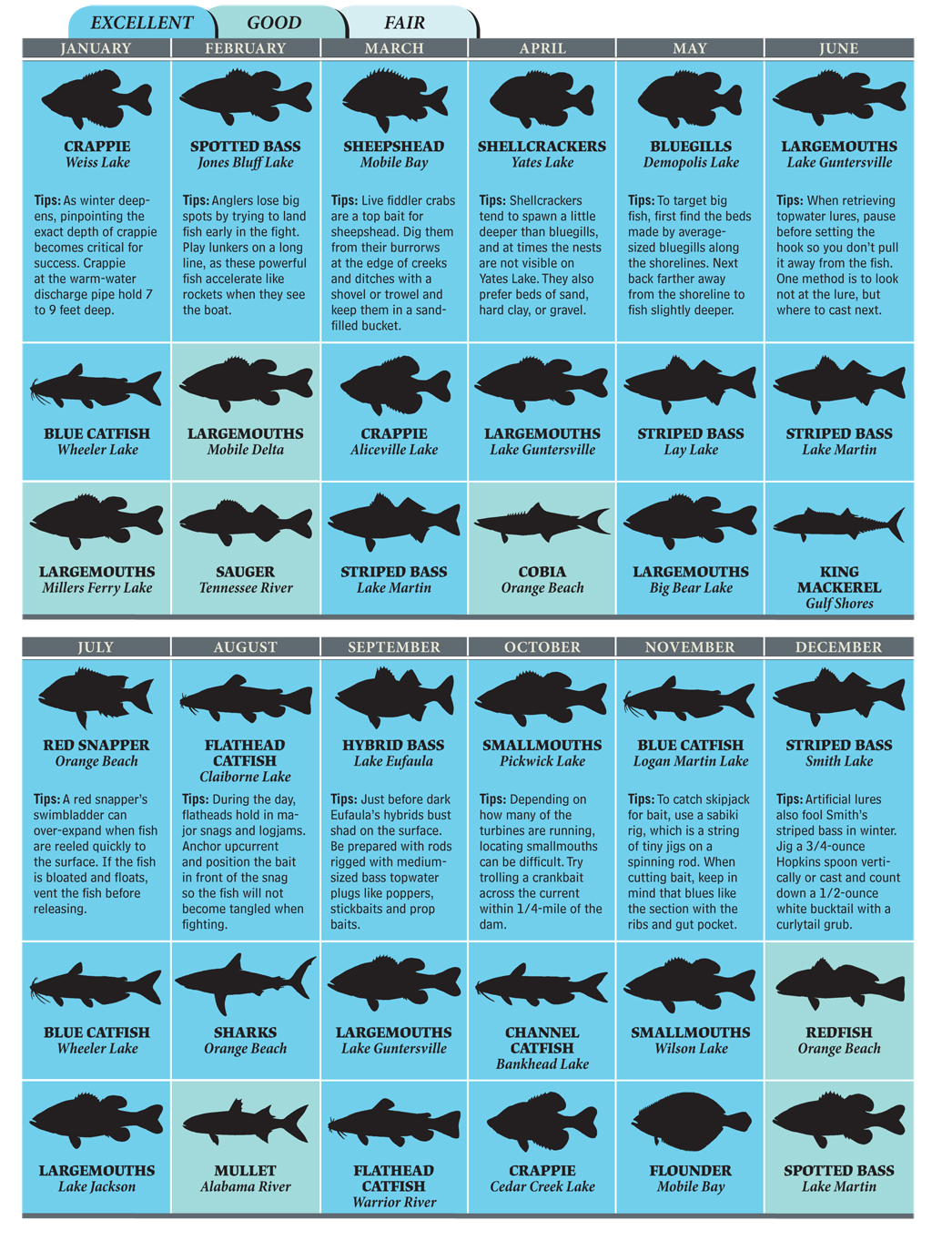Best Bets for Alabama Fishing in 2012