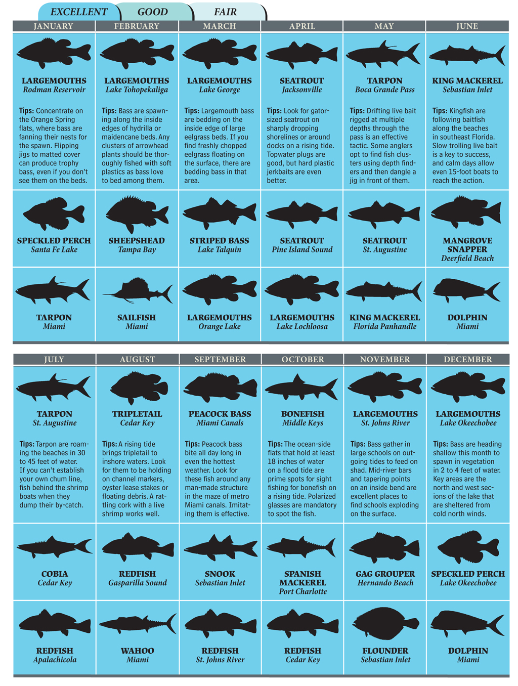 Top Spots for Florida Fishing in 2012