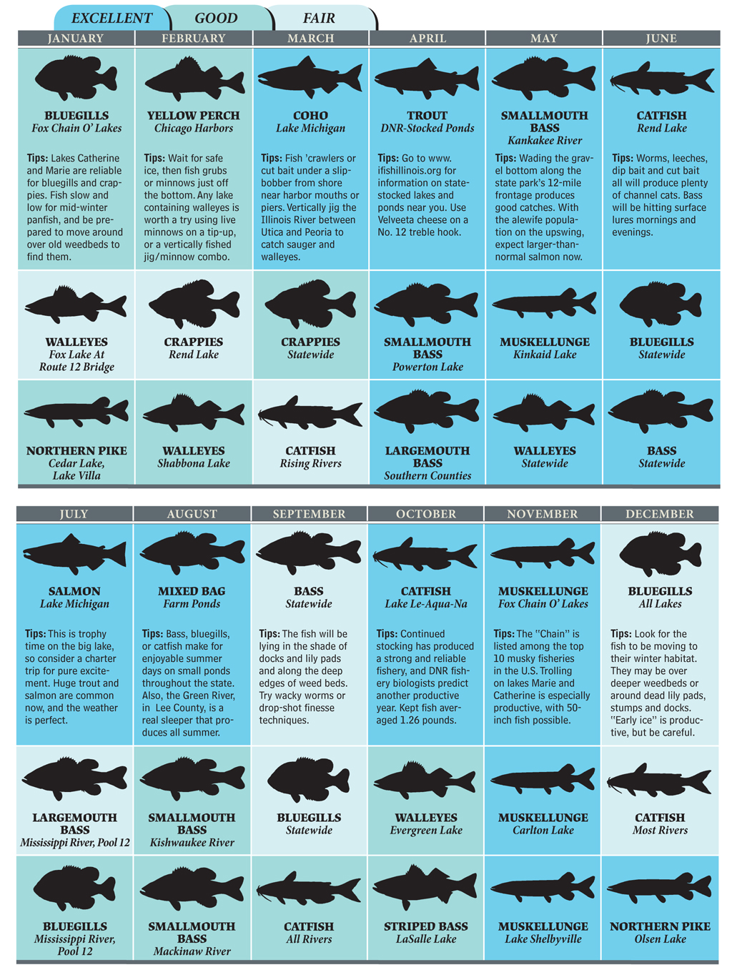 top illinois fishing spots for 2012 game fish