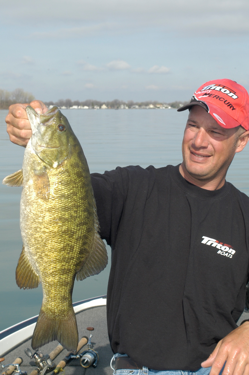 It's possible to catch 100 smallmouths a day on Lake St. Clair in July!   Photo by Mike Gnatkowski.