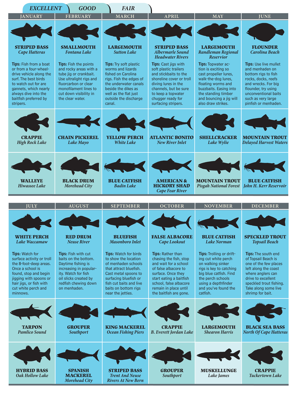 Top Spots for North Carolina Fishing in 2012