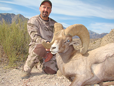 A ram shot in California's San Bernadino Mountains -- measuring 180 7/8 inches -- could set new
