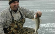 Saugeye fishing at Buckeye Lake, our top suggestion for February action, can yield some fine action.  Photo by Dan Armitage.