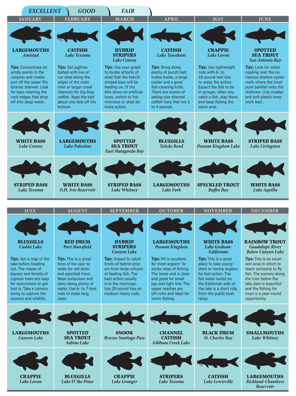 Hottest Spots for Texas Fishing in 2012