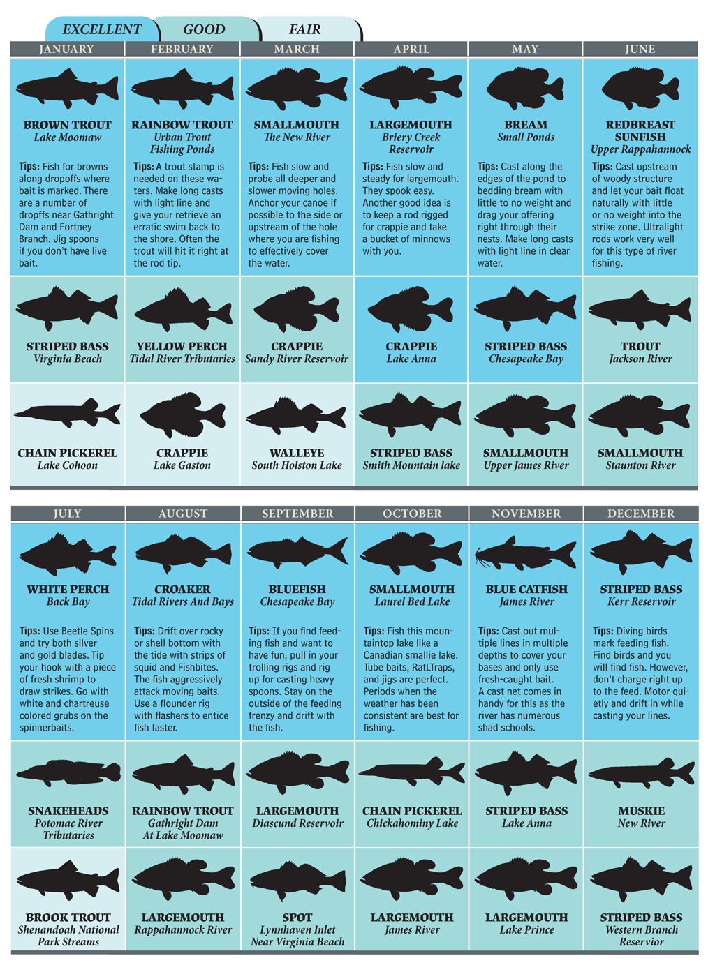 Top Spots for Virginia Fishing in 2012
