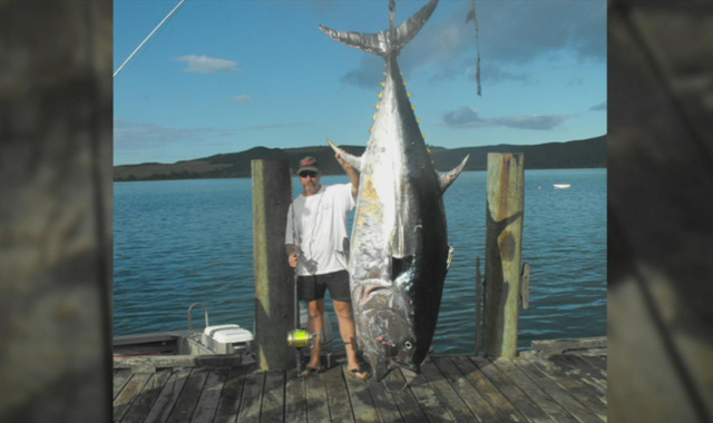 A New Zealand man is waiting to see if the biggest catch of his life is the biggest of all time.