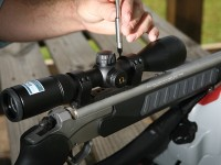 One of the biggest improvements in riflescopes is the move to fully multi-coated glass. That means every piece of glass -- inside and out -- the scope is optimized with anti-reflective material, such as magnesium flouride, to increase the amount of light transmitted through each lense. In some scopes there might be 10 lenses, said Jon LaCorte of Nikon. Photo by Ron Sinfelt.