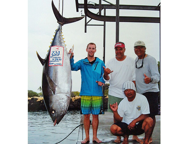 Canadian Lands 231 Lb. Big Eye Tuna, Breaks Hawaiian State Record