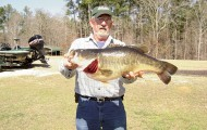 James Allen of Crystal Springs boated a new lake record largemouth at Calling Panther Lake in February of 2011. The fish weighed 15 pounds, 4 ounces. Photo courtesy of James Allen.