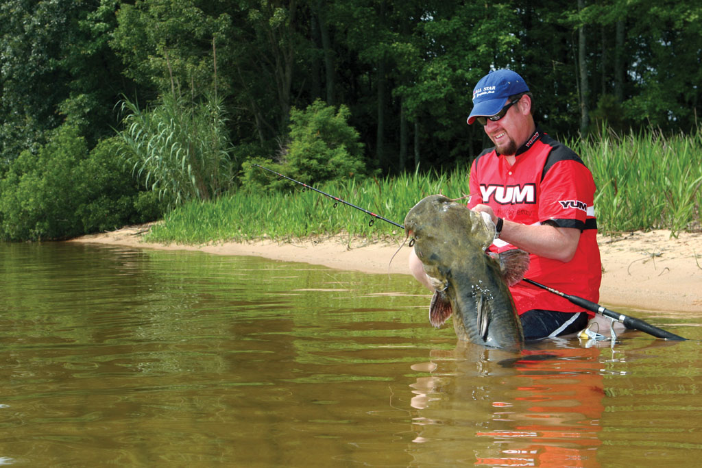 You can catch plenty of catfish in June in south Alabama. But, you have to first find those