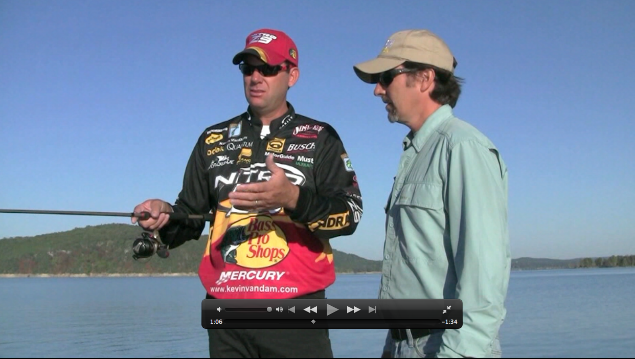 When the water is clear and calm,  you need specific techniques. Kevin VanDam, Bassmaster 2010