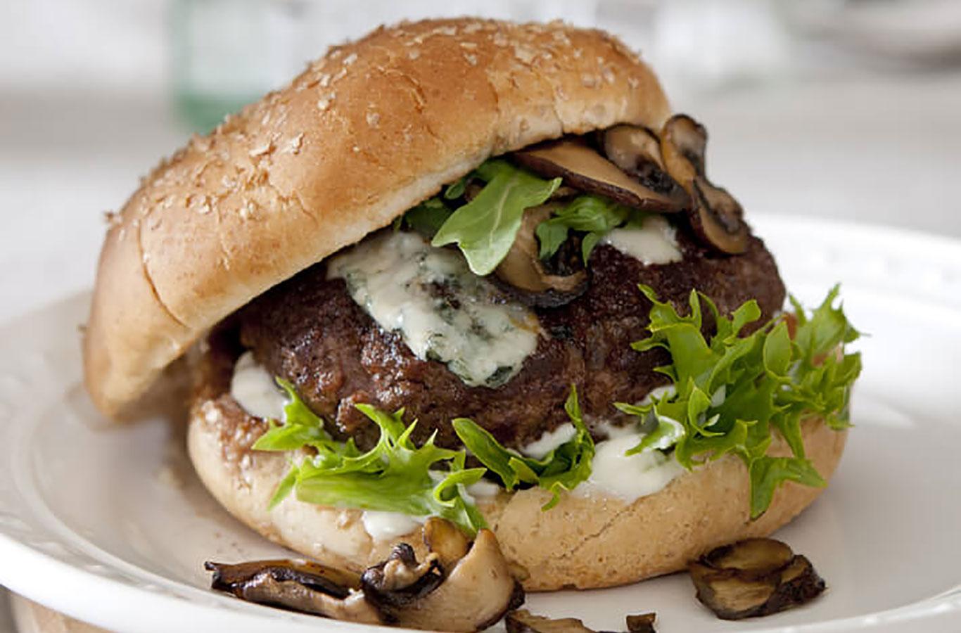 mushroom-blue-cheese-venison-burger-recipe