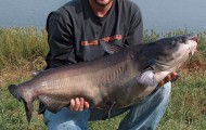 Gary Doak Jr. shows off his state-record channel catfish from Taft Lake. Caught on Sept. 11, 2005, it weighed 35 pounds, 15 ounces and was 39 1/4 inches long. More monsters are out there! Photo courtesy of www.wildlifedepartment.com.