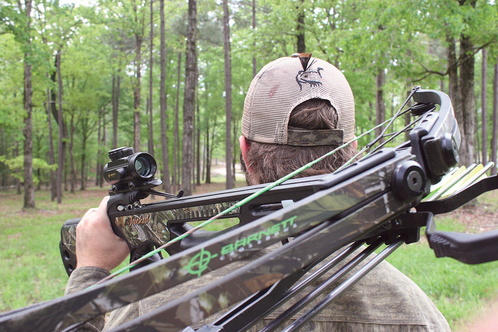 Have you been noticing more crossbow hunters when you hunt? Participation is on the rise. Photo by John Geiger.