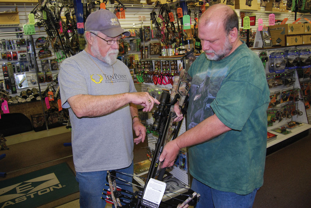 There's no better  way to find the right crossbow than by  shopping in a  well-equipped  archery shop. Photo courtesy of TenPoint.