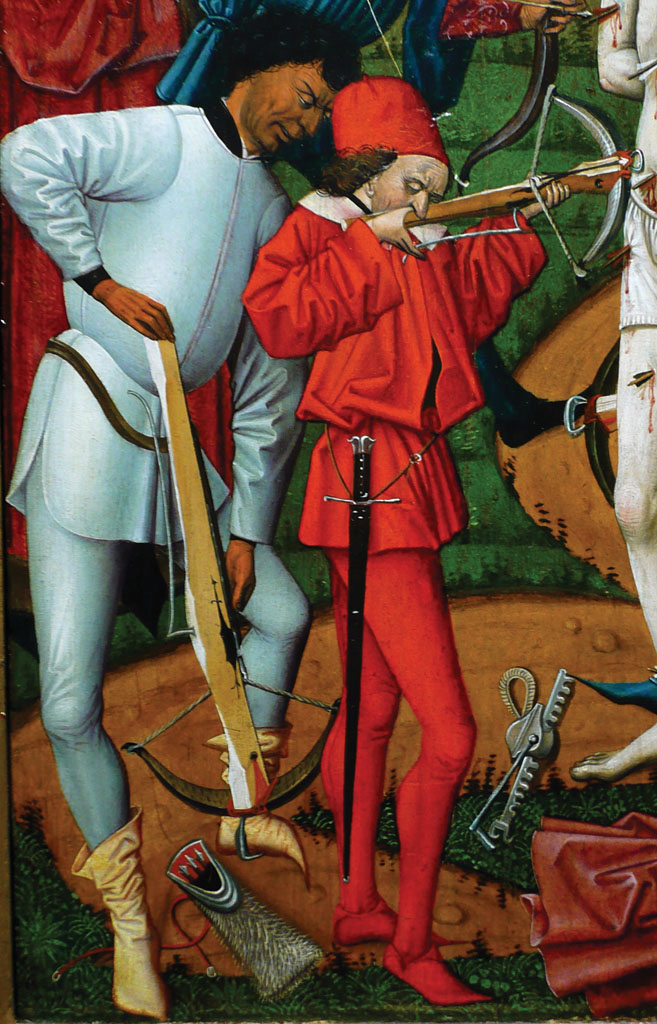 Detail from The Martyrdom of St. Sebastian. Circa 1475.
