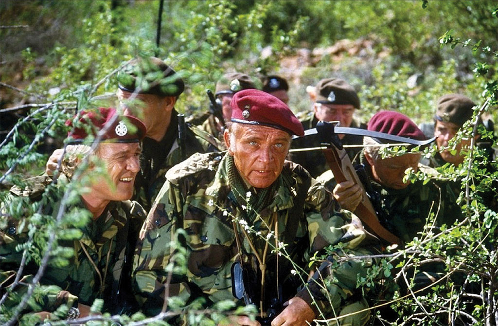 Crossbows won the day in 1978's The Wild Geese with Richard Burton and Roger Moore.