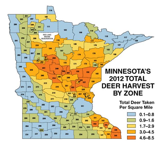 Map Of Minnesota Deer Hunting Zones   afputra.com