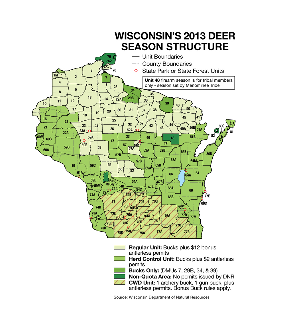 Deer harvest summary wisconsin dnr autos post for Wisconsin dnr fishing license online