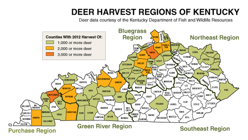 Ky best counties for kentucky deer hunting in 2013 game amp fish