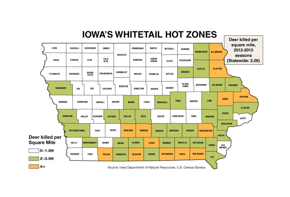 Iowa Deer Zone Map Related Keywords Amp Suggestions  Iowa