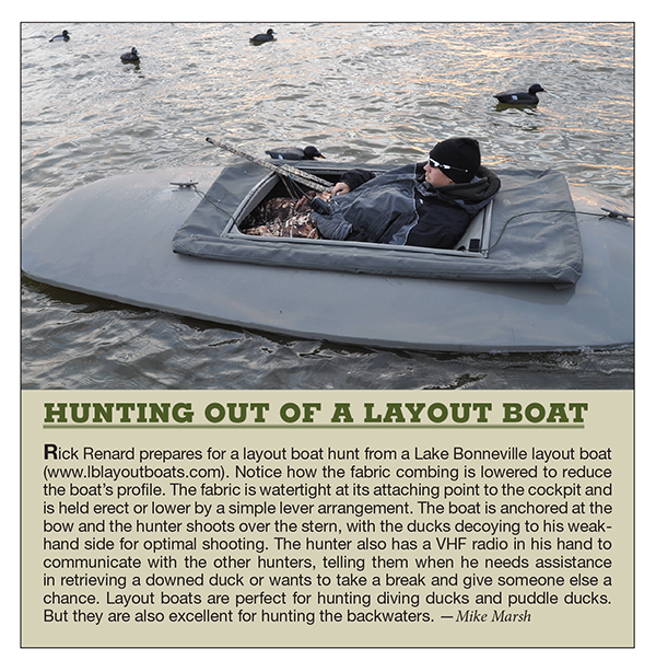 duck hunting, waterfowl hunting, layout boat